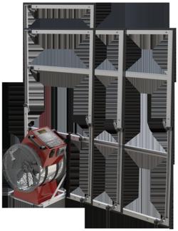 Blower-Door-Verfahren Messgerät für Türrahmen teleskopierbar – Toni Ungelert Bauunternehmen © LTM GmbH